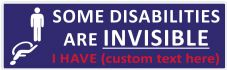 Some Disabilities Are Custom Text Car Van Sticker Waterproof Decal  (Plain) (1)